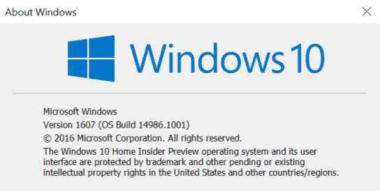 KB3206309 build 14986.1001