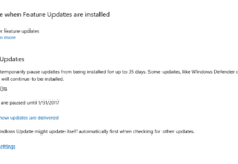 windows 10 pause updates features with creators update