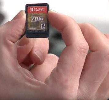 Nintendo Switch game cartridges