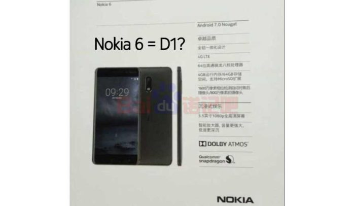 Nokia 6 smartphone specifications
