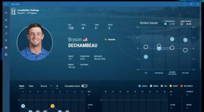PGA Tour app for Windows 10