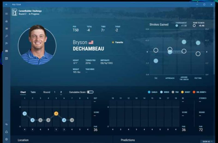 PGA Tour app for Windows 10