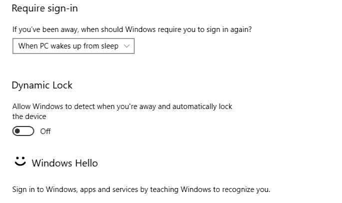 Windows 10 Dynamic Lock