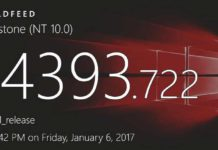 Windows 10 update build 14393.722