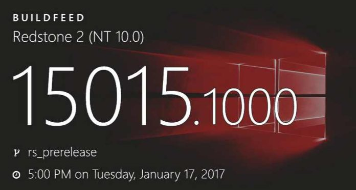 Windows 10 Build 15015 (10.0.15015.1000)