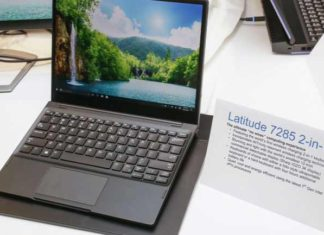 Dell Latitude 7285 2-in-1 tablet with wireless charging