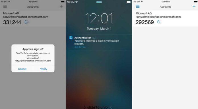 Microsoft Authenticator beta app