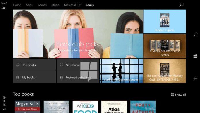 Windows 10 E-book store