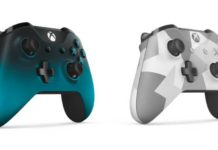 Ocean Shadow and Winter Forces Xbox Wireless Controllers