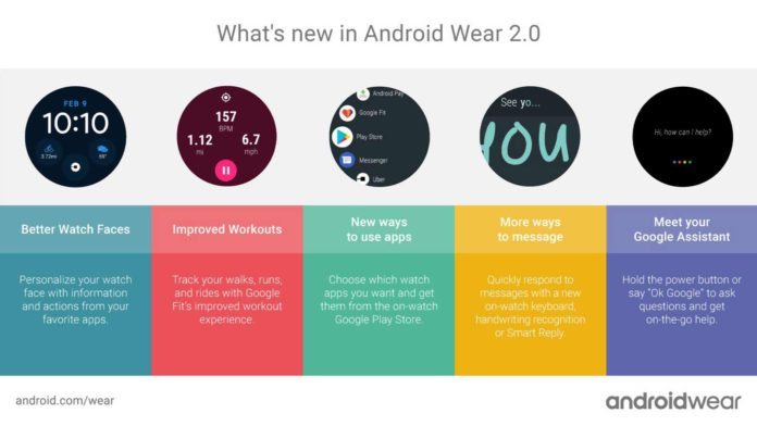 Android Wear 2.0 complete features list