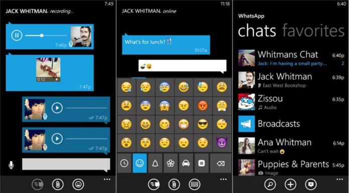 WhatsApp 2.17.70 for Windows Phone