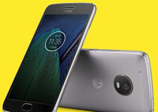 Moto G5 Plus update