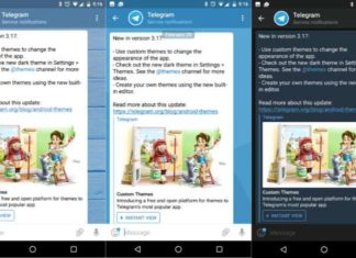 Telegram 3.17 update Android