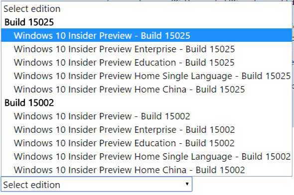 Windows 10 Build 15025 ISO