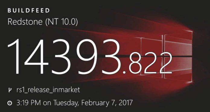 Windows 10 Build 14393.822 (10.0.14393.822)