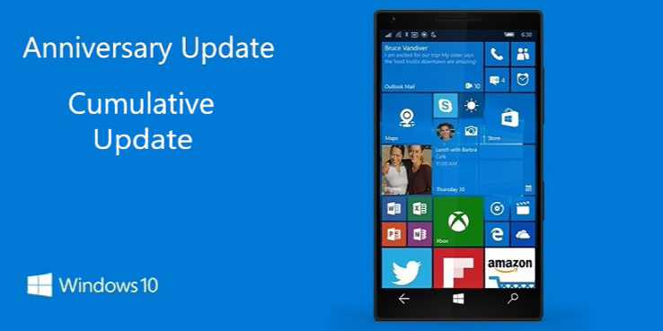 Windows 10 Mobile build 10.0.14393.1537