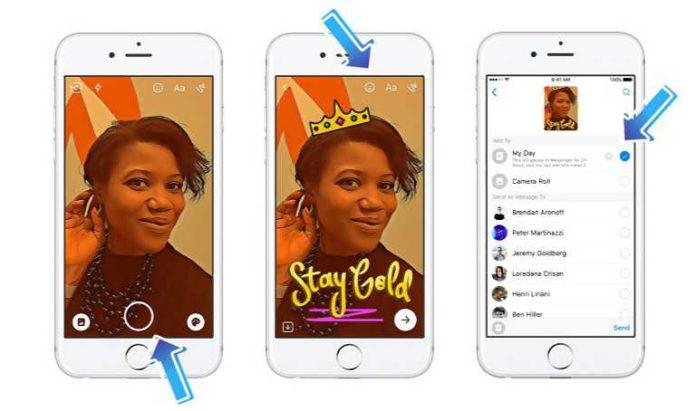 Facebook Messenger Day feature