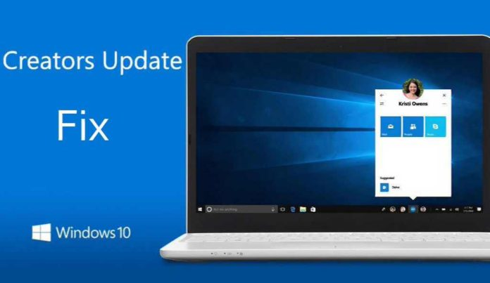 Windows 10 Creators update fix