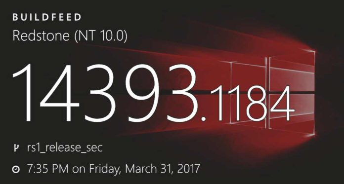 Windows 10 build-14393.1184