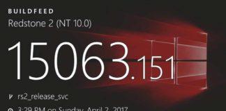 Windows 10 build 15063.151