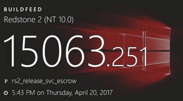 Windows 10 build 15063.251