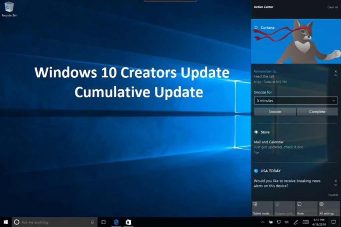 Windows 10 Creators Update montly patch