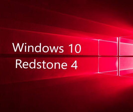 Windows 10 redstone 4 build update-sihmar