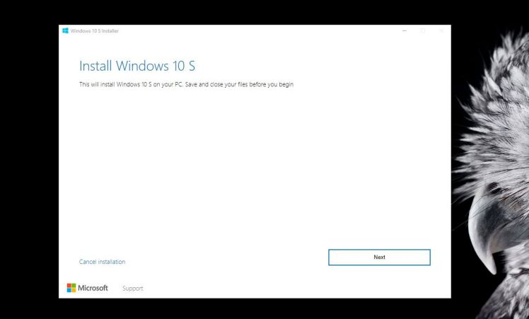 Install Windows 10 S on Windows 10 PCs