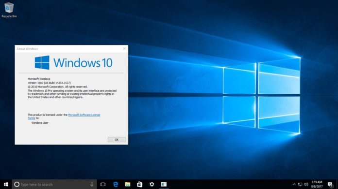 Windows 10 build 14393.1537 KB4038220 Sihmar