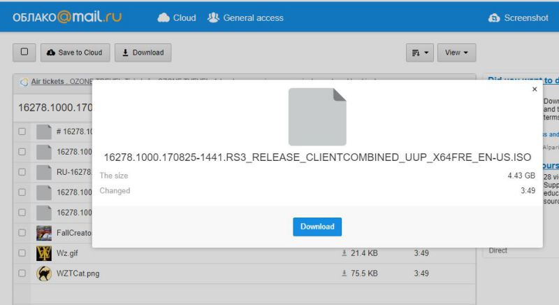 Windows 10 build 16278 ISO