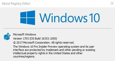 Windows 10 build 16353 ISO image files