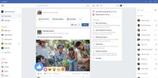 Facebook app Windows 10 Sihmar