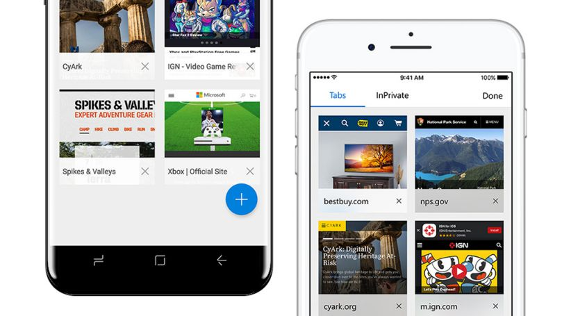 Microsoft Edge Browser for Android and iOS