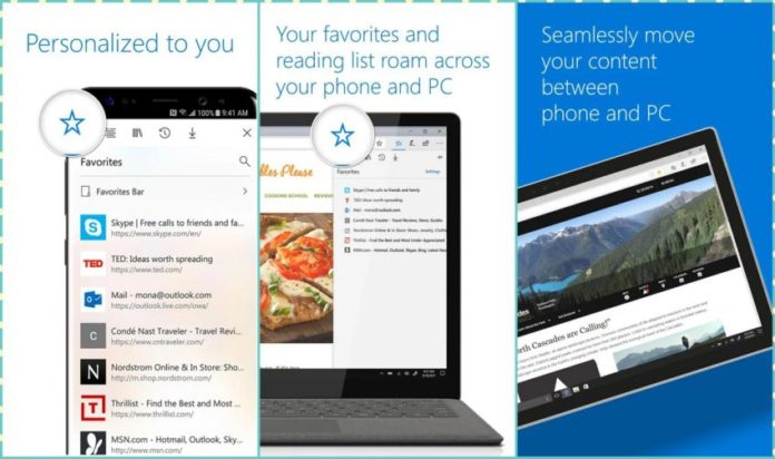 Microsoft Edge for Android Sihmar