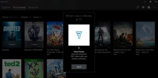 Movie & TV app Update Windows 10 Sihmar