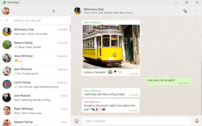 Whatsapp Desktop app for Windows 10