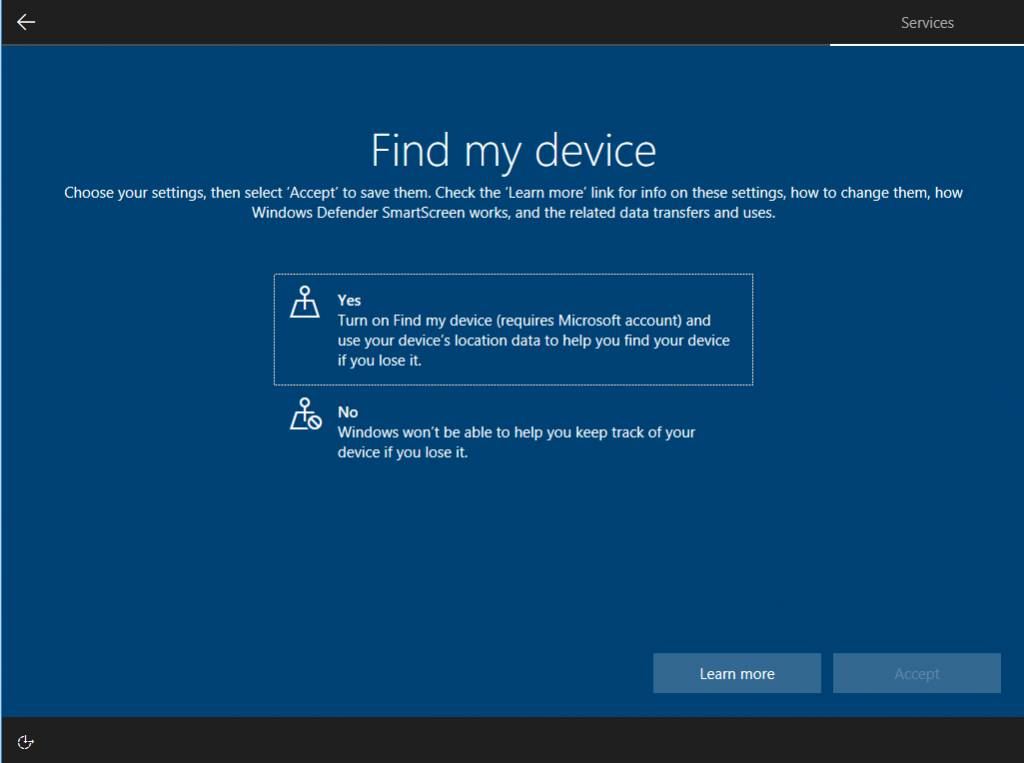 Windows 10 New Privacy Setting
