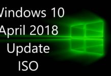 Windows 10 April 2018 Update ISO