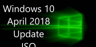 Windows 10 April 2018 Update ISO