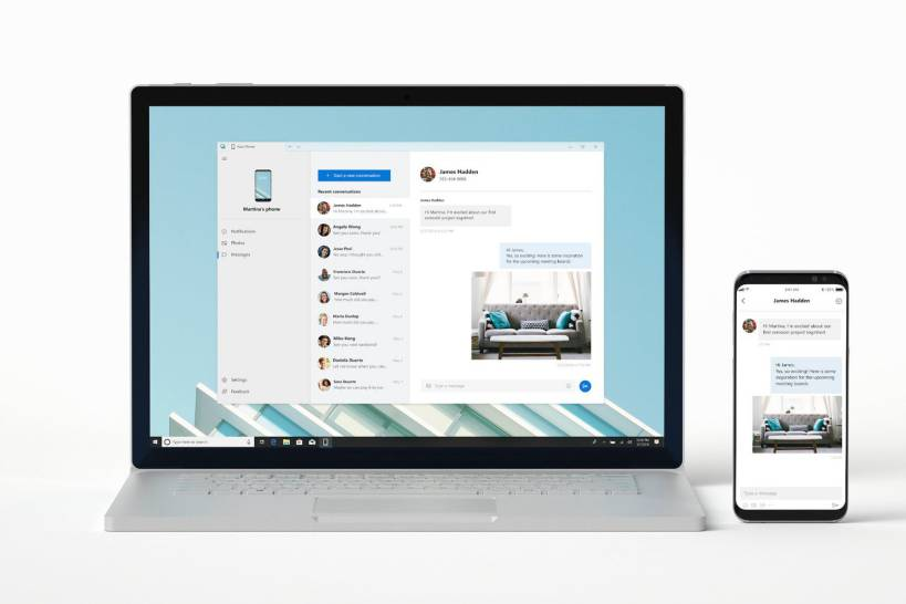 Windows 10 new 39 your phone 39 app can mirrors your phone to pc for Mirror your phone to pc